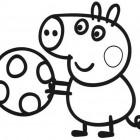 George Pig con la palla da colorare