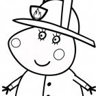 Peppa Pig pompiere da colorare