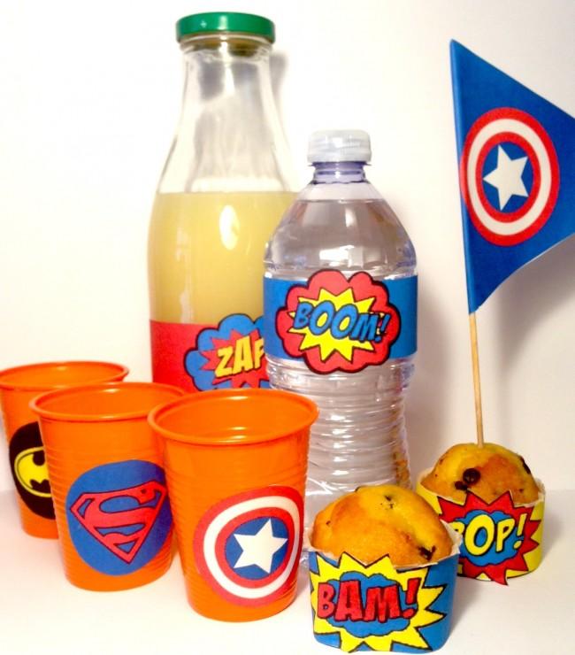 Merenda festa super eroi