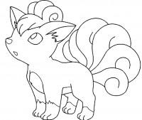 Vulpix Pokémon da colorare