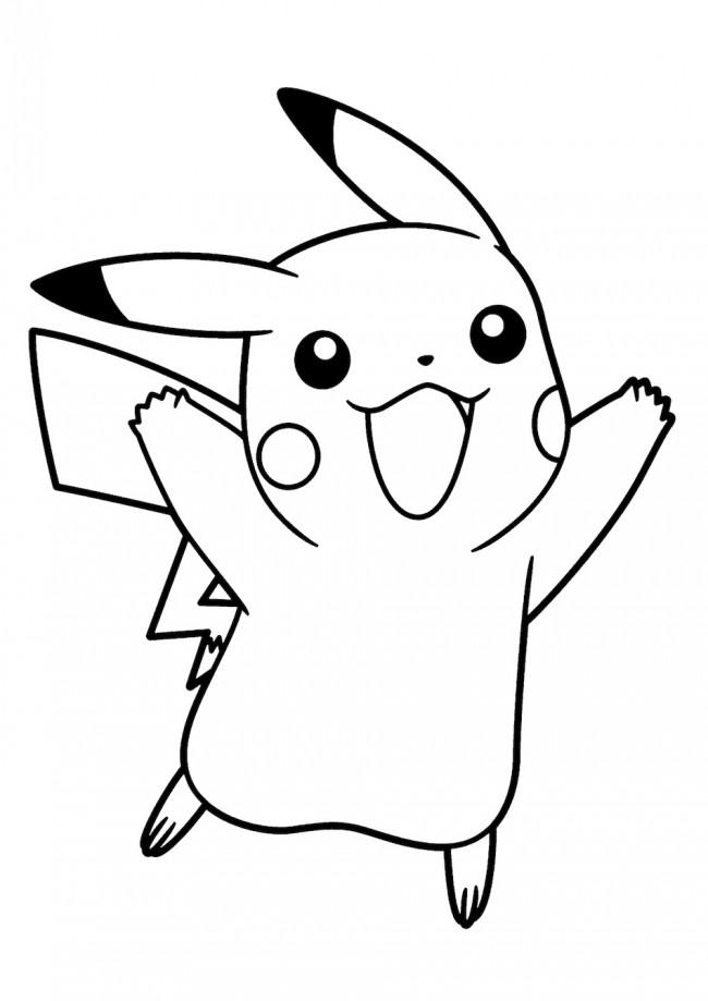 Disegni di pikachu da colorare immagini di pokemon da for Immagini sole da colorare