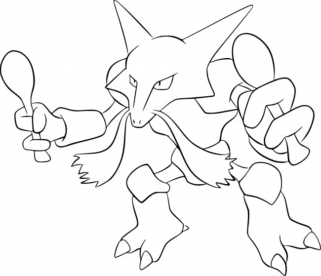 Alakazam Pokemon da colorare