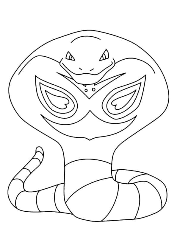 Arbok Pokémon da colorare