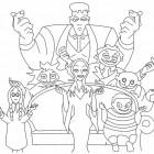 La famiglia Addams da colorare