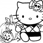 Halloween con Hello Kitty da colorare
