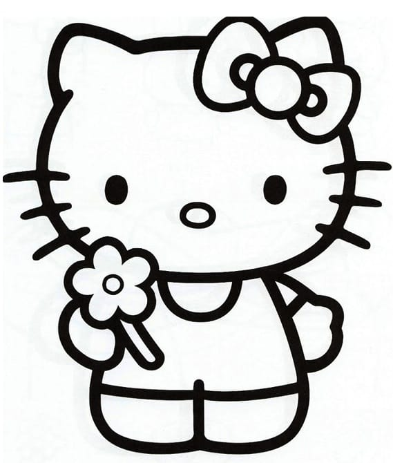 Hello Kitty da colorare
