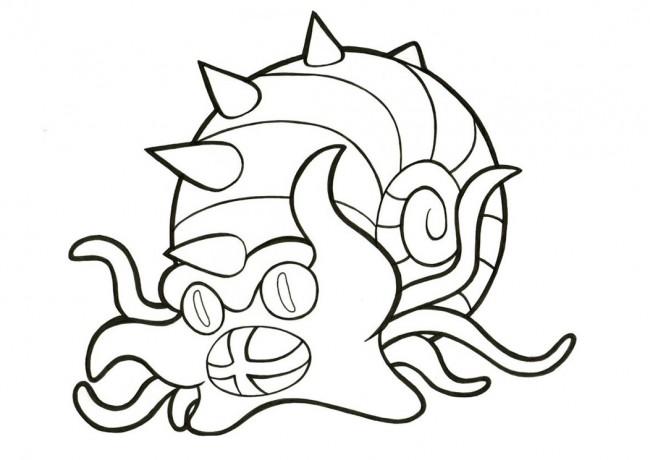 Omastar Pokemon da colorare