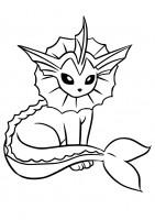 Vaporeon Pokémon da colorare