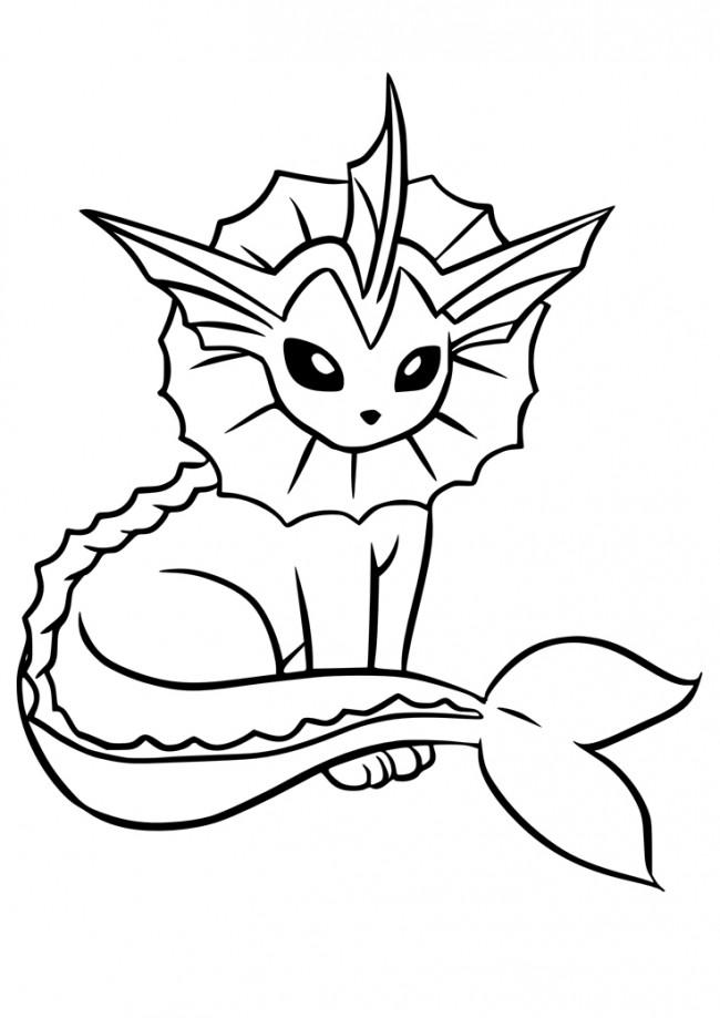 Vaporeon pok mon da colorare for Pokemon da stampare e colorare