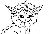 Disegno Di Vaporeon Da Colorare Gratis Pokemon