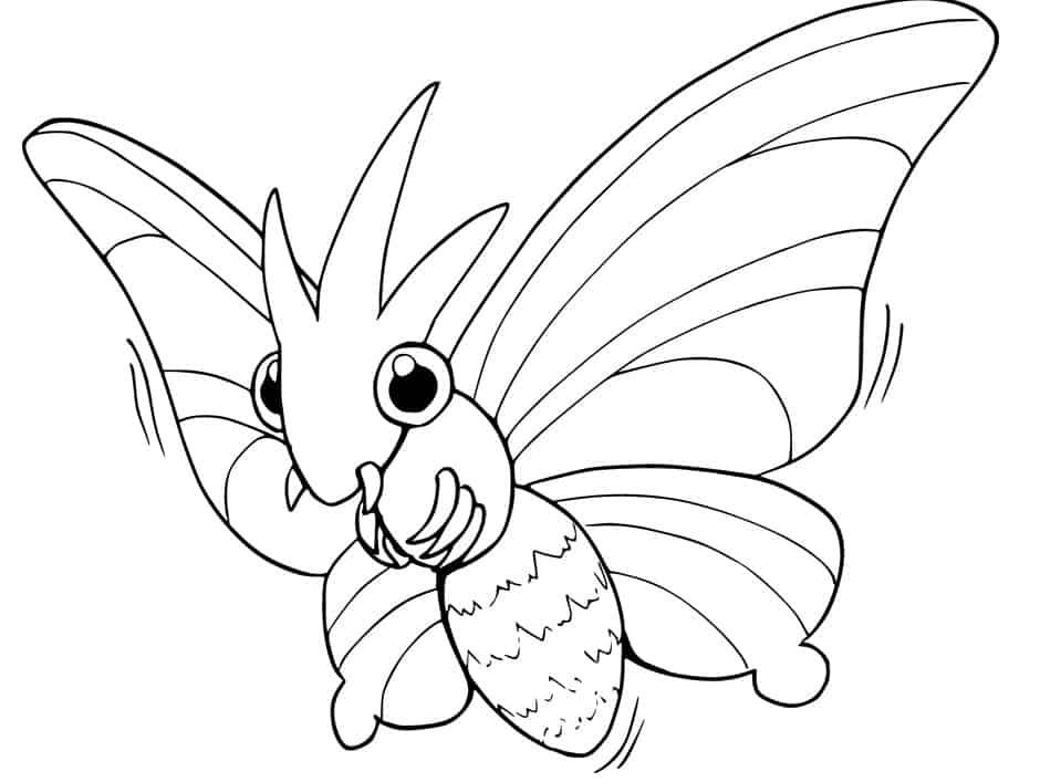 Venomoth da colorare - Pokemon da colorare