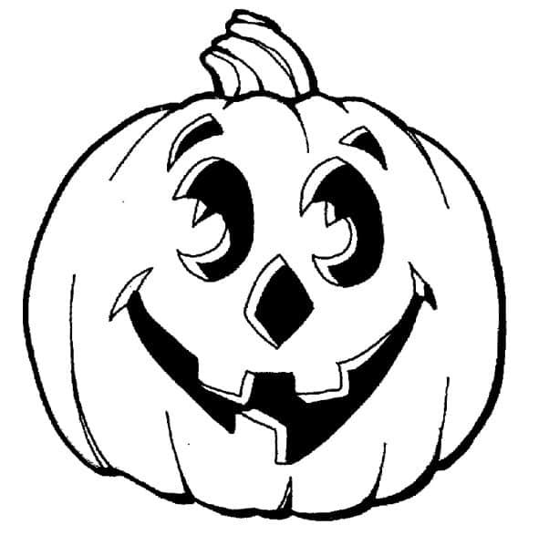 Disegno zucca Halloween da colorare