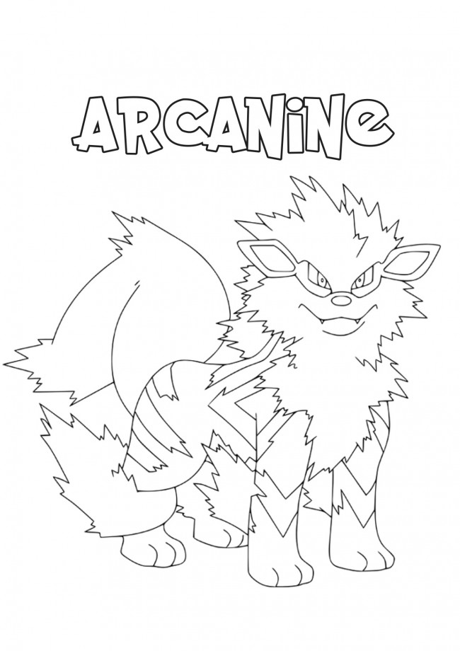 Arcanine da colorare for Immagini squalo da colorare