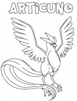 Articuno Pokemon da colorare
