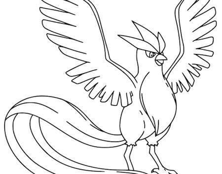 Disegno Di Articuno Da Colorare Gratis Pokemon