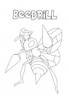 Pokemon Beedrill da colorare