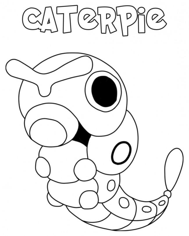 Pokemon Caterpie da colorare