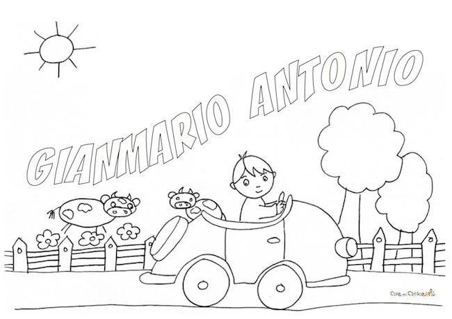 Gianmario Antonio da colorare