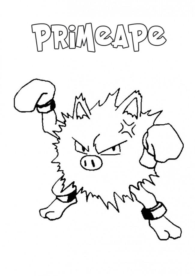 Pokemon Primeape da colorare