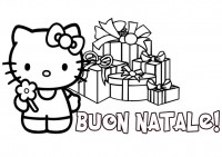 hello Kitty a Natale da colorare