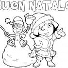 Auguri di Natale di Dora da colorare