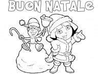 Dora l'esploratrice Natale da colorare