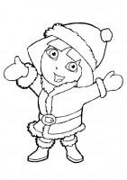 Disegno di Natale Dora l'esploratrice