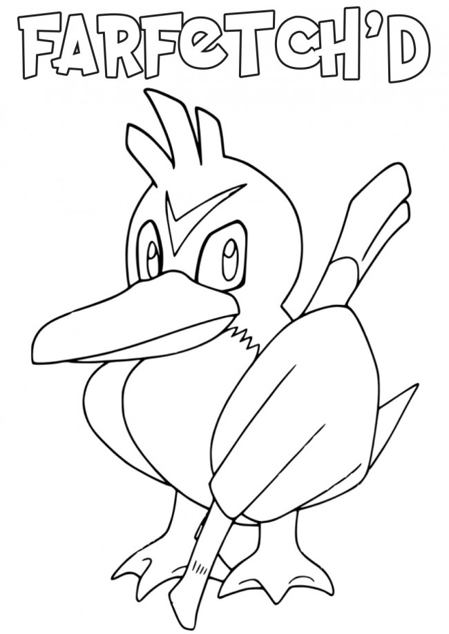 Far Fetch Pokemon Coloring Pictures Coloring Pages