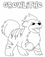 Growlithe Pokemon da colorare
