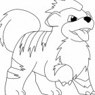 Growlithe da colorare
