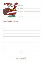 Lettera per Babbo Natale da stampare