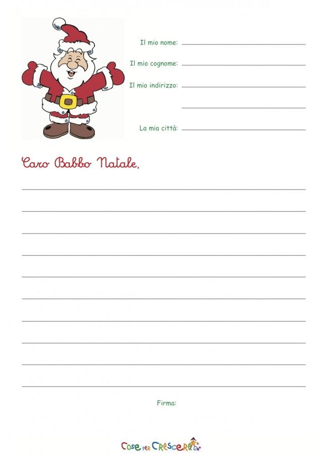 spesso Lettera a Babbo Natale da stampare - Cose Per Crescere XA41