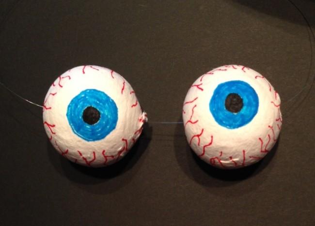 Occhi finti per halloween