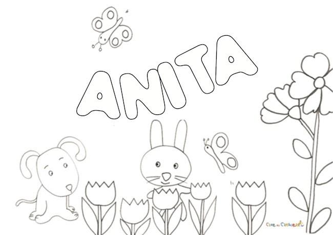 Nome Anita da colorare