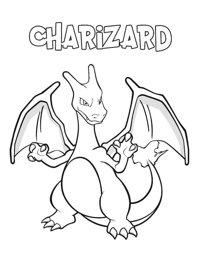 Pokemon Charizard da colorare