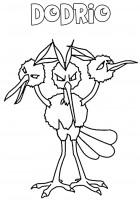 Pokemon Dodrio da colorare