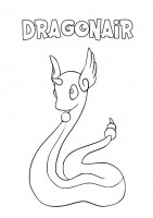 Pokemon Dragonair da colorare