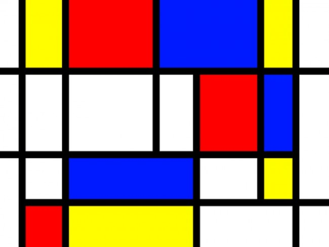 Famous Art That Uses Line : Mondrian dipinto