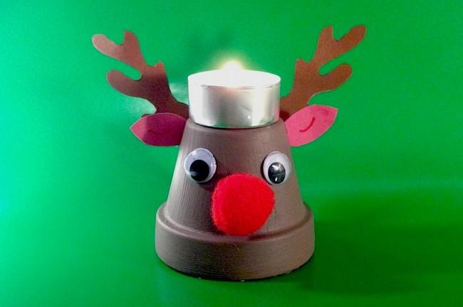 Lavoretto di Natale - lumino natalizio