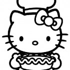 Hello Kitty con la torta