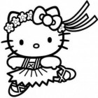 Hello Kitty che balla da colorare