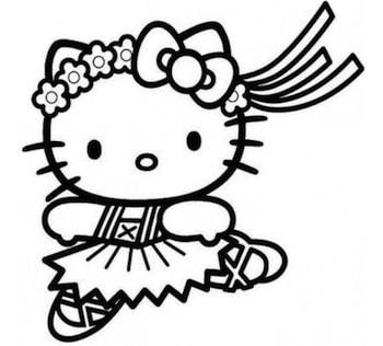 Disegni Da Colorare Hello Kitty Buon Compleanno.Hello Kitty Che Balla Da Colorare Cose Per Crescere