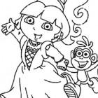 Dora l'esploratrice a Carnevale da colorare