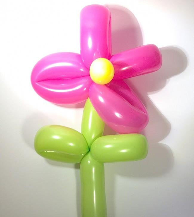 Fiore in palloncini modellabili