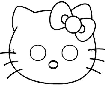 Maschera di Hello Kitty
