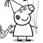 Peppa Pig a Carnevale da colorare