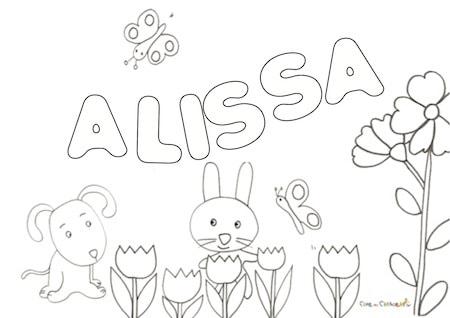 Nome Alissa da colorare