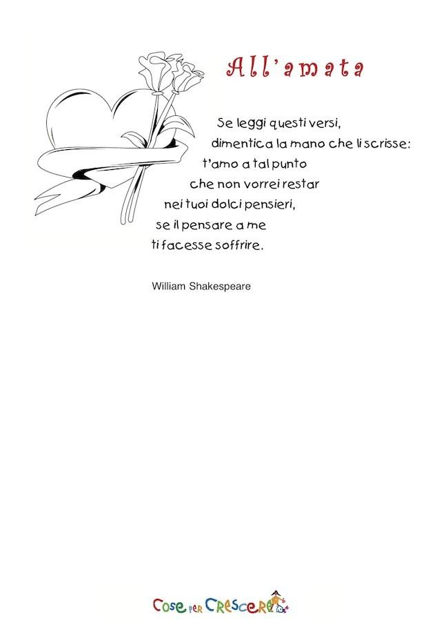Poesia per san valentino - all'amata