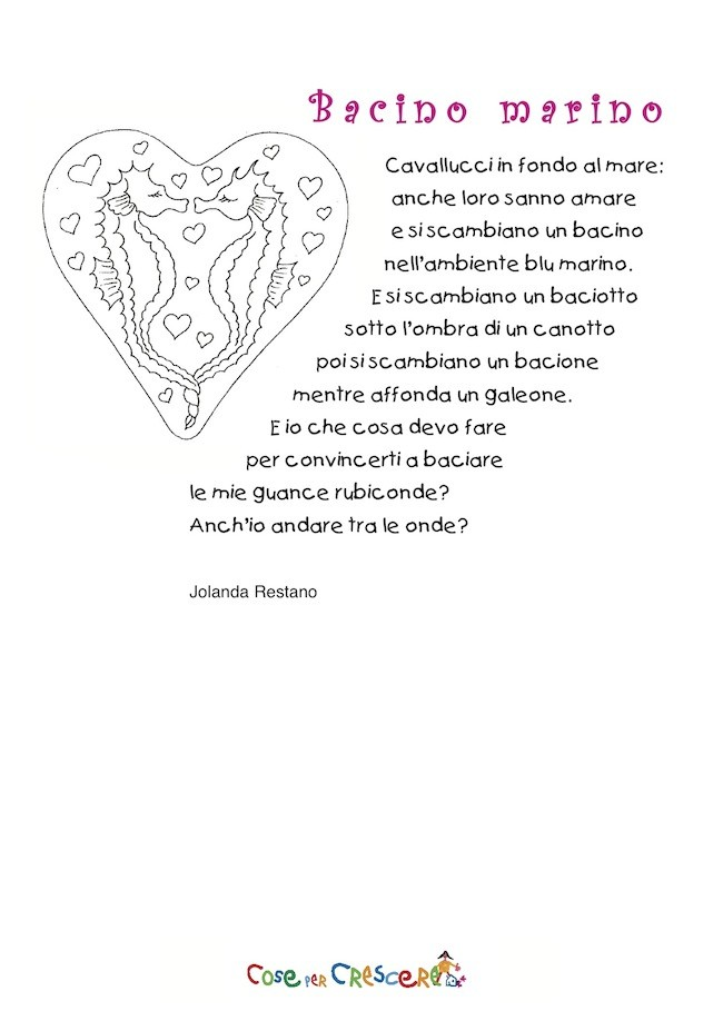 Poesia d'amore per bambini
