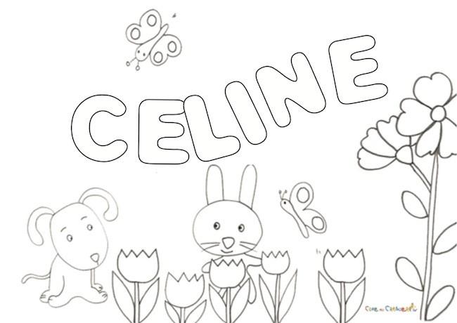nome Céline da colorare